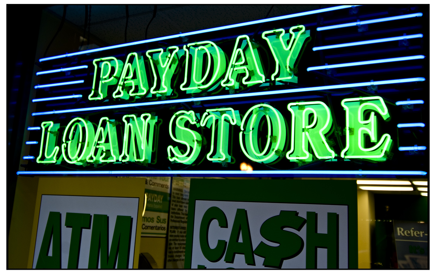 Pay day loans and the cycle of indebtedness