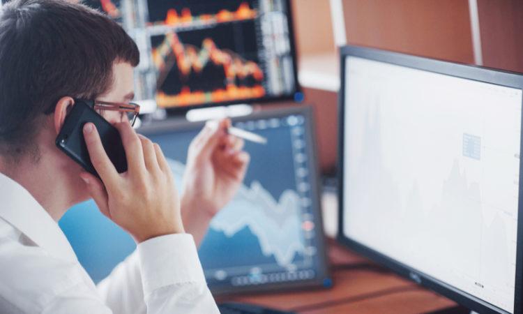 stock broker working