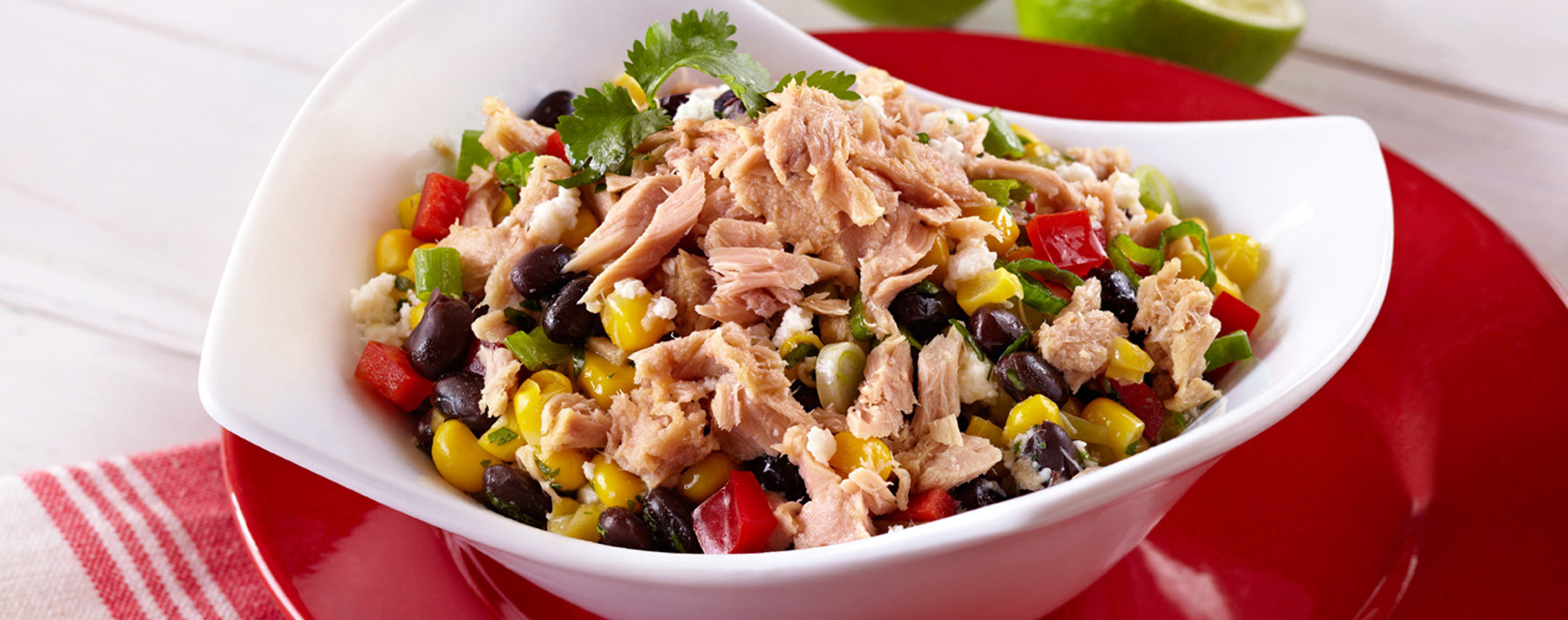 Tuna black bean and corn salad