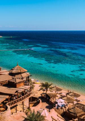 Beach and Red Sea at Sharm El Sheikh