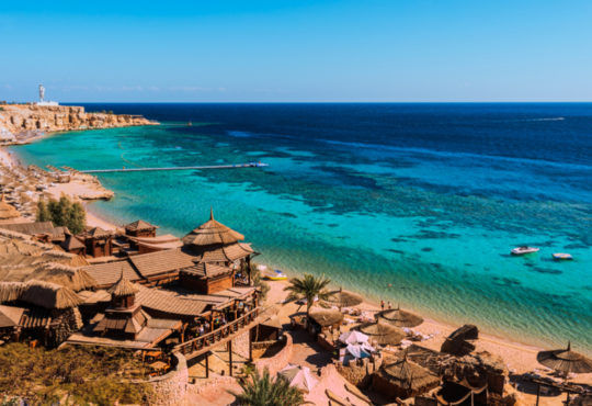 Beach and Red Sea at Sharm El Sheikh