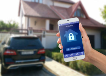 home security managed on the smartphone