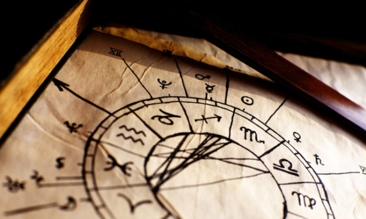 Traditional Horoscope on paper